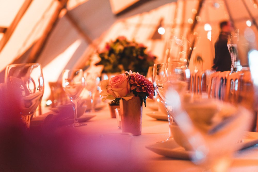 Event in a tent